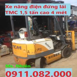 Phân phối xe nâng điện TMC komatsu Sumitomo 1,5 tấn cao 4 mét giá rẻ
