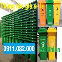 Thùng rác 240 lít nhựa hdpe 2 bánh xe nắp kín giá rẻ vĩnh long