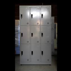 Tủ locker 9 ngăn 3 khoang tủ sắt văn phòng
