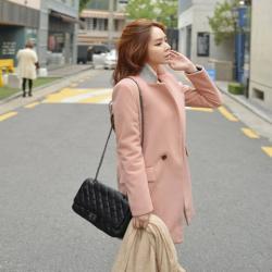 Áo khoác dạ nữ đẹp Hàn Quốc thời trang thu đông 2018 – 2019 ấm áp
